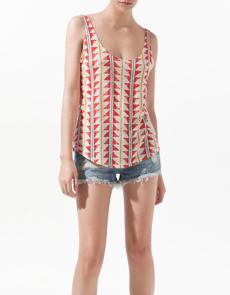 navajo print linen t shirt shopster