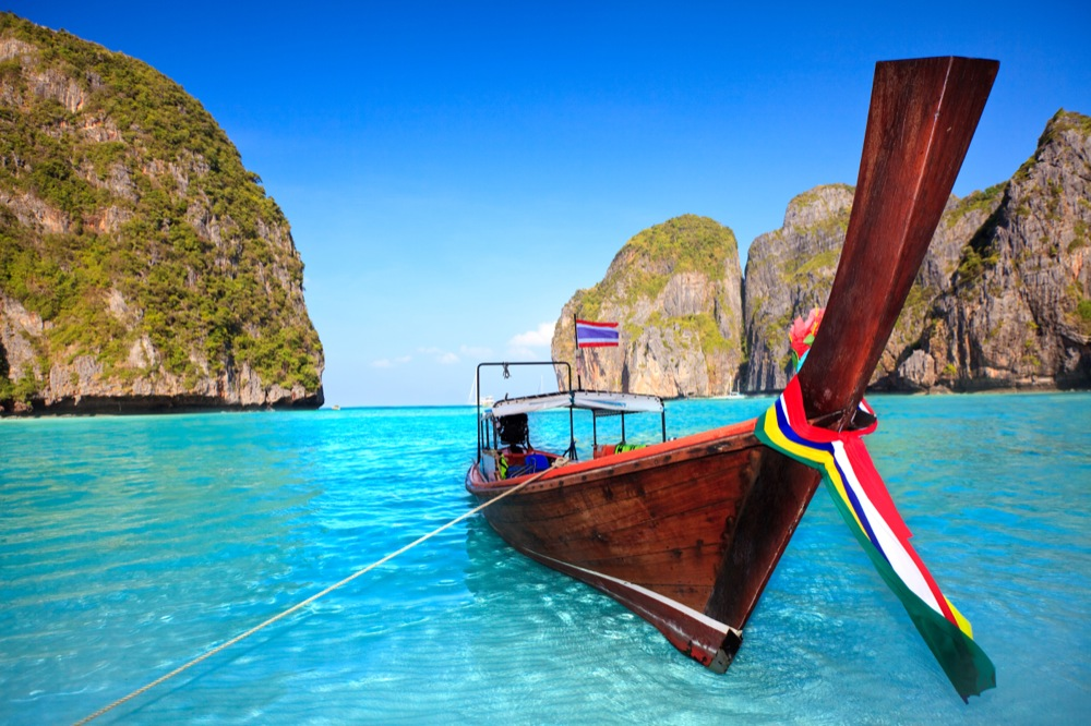 Longtail boat at Maya bay