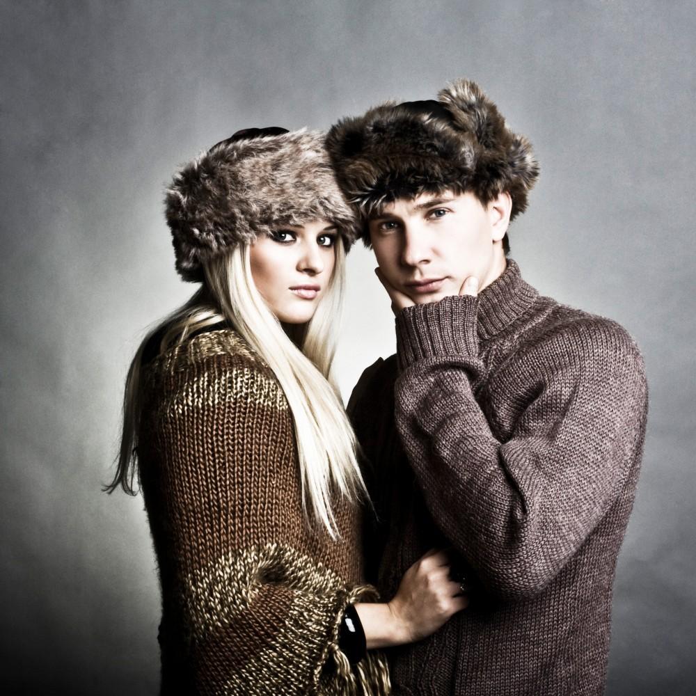 Winter fashion man and woman