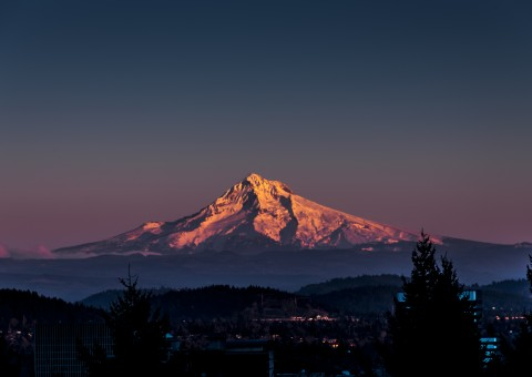 Mount Hood at Sunset